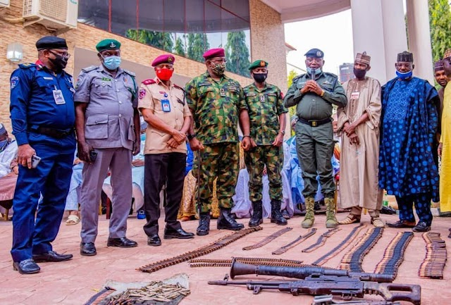 GOOD NEWS?? Repentant Bandits Surrender Their Weapons In Zamfara (Photos)
