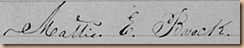 Mattie E. Brocjk signature