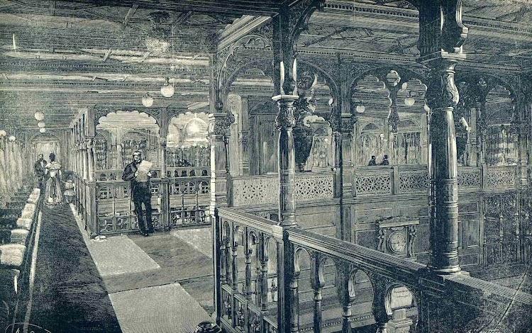 Vapor REINA MARIA CRISTINA. Salon de Musica. Revista de Navegacion y Comercio. Año 1893.jpg