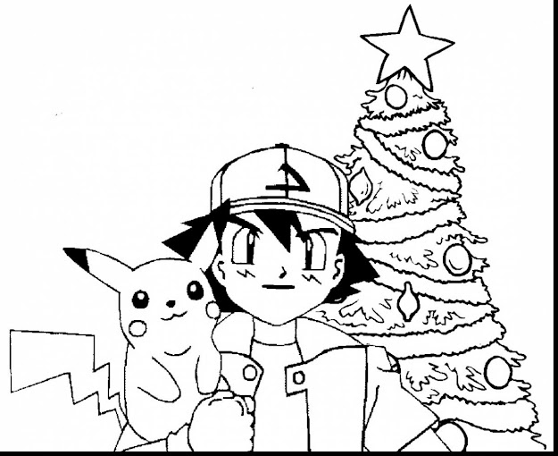 Remarkable Pokemon Pikachu Christmas Coloring Pages With Pikachu Coloring  Pages And Pikachu Coloring Sheets