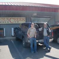 Lincoln Creek Lumber donated rebar and 2x8 PT lumber