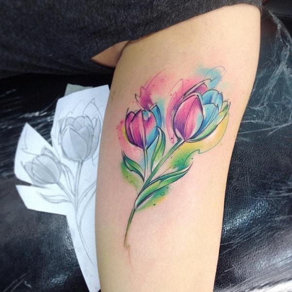 este_deslumbrante_tulip_aquarela_tatuagem