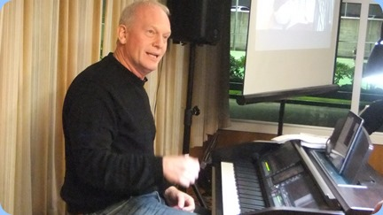 Our guest artist, Darren Smith from Music Works, playing the Club's Yamaha Clavinova CVP-509. Photo courtesy of Dennis Lyons.