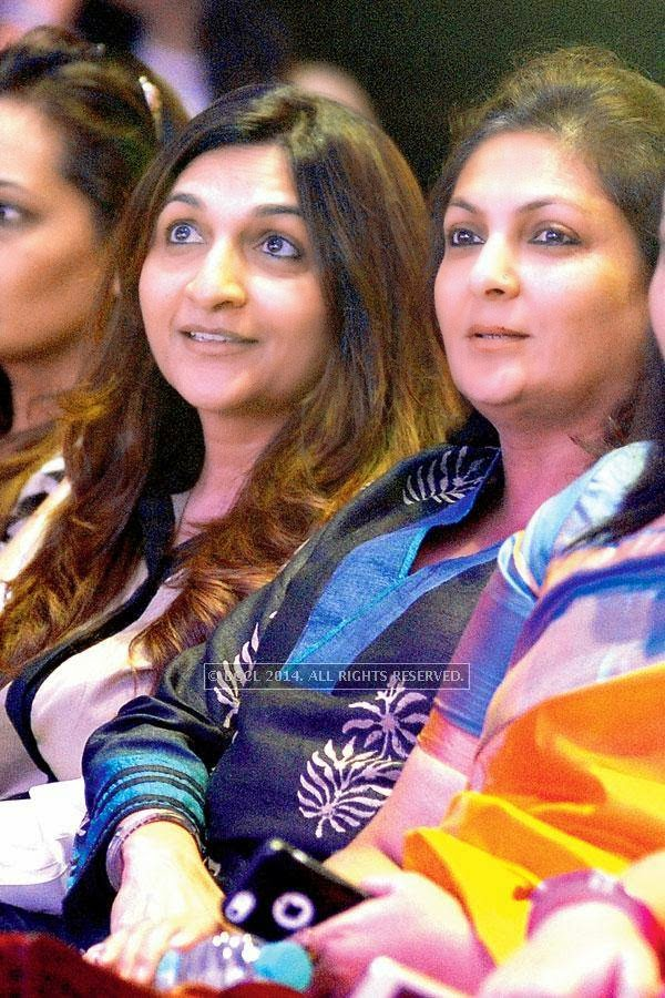 Varsha Chordia and Sabina Sanghvi during a Cancer campaign, held at JW Marriott, in Pune.