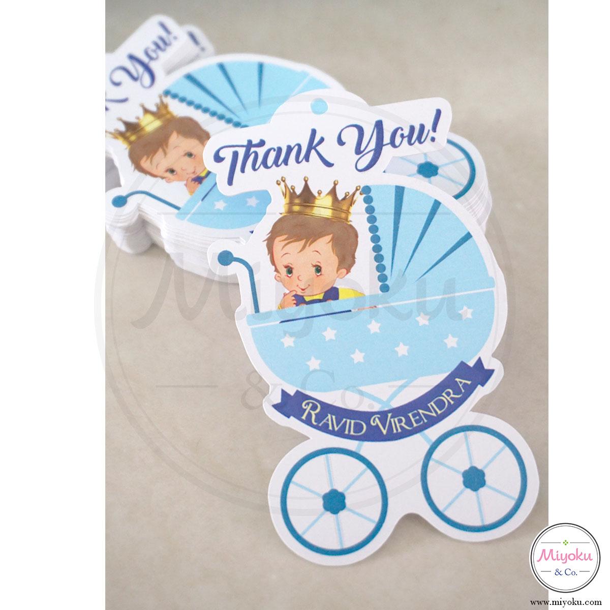 Kartu Ucapan Terima Kasih Kelahiran Bayi Little Prince Miyoku