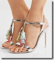 Sophia Webster silver tasseled leather sandals