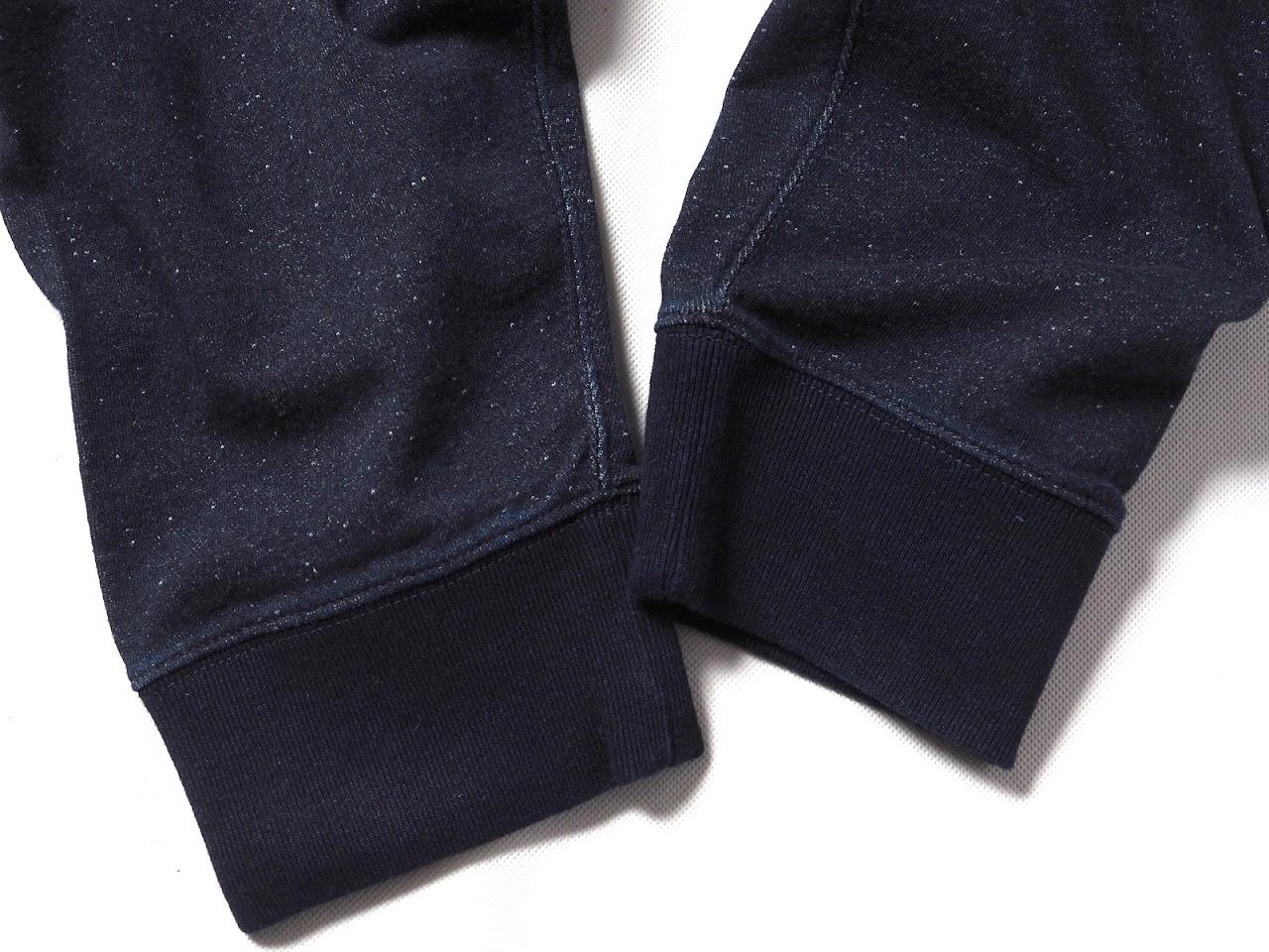 RRL / Indigo Slub Cotton Hoodie , Indigo Cotton Terry Jogger Pant