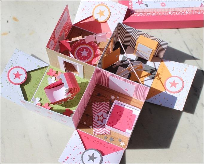 Baby Explosion Box vierfach Kinderzimmer Kinderwagen Garten Girl 10