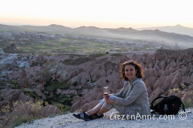 Kapadokya'da günbatımı, Kızılçukur Vadisi, Pink - Rose Valley, Sunset Point