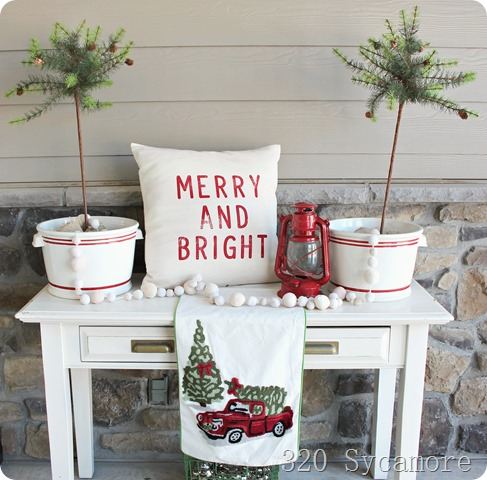 merry and bright porch christmas decor