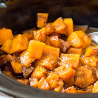 Slow Cooker Cinnamon Sugar Butternut Squash.