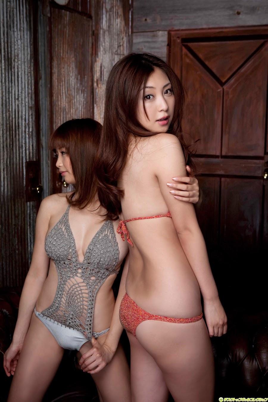 Akina Aoshima & Natsuko Tatsumi - Japanese Gravure Idol
