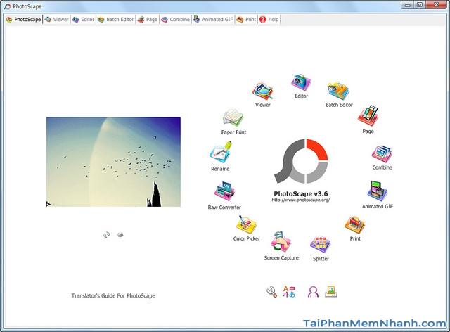 Giới thiệu phần mềm chỉnh sửa ảnh PhotoScape