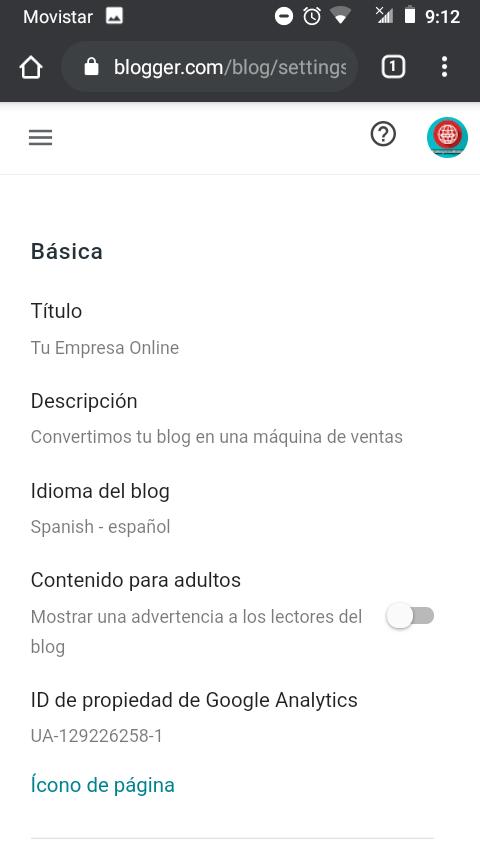 configuracion metadescripciones blogger captura de pantalla