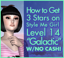 Style Me Girl Level 14 - Galactic - Madison - Stunning! Three Stars