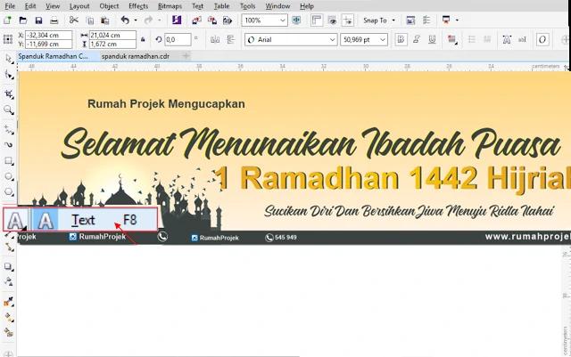 Download Spanduk Kegiatan Ramadhan CorelDraw X7