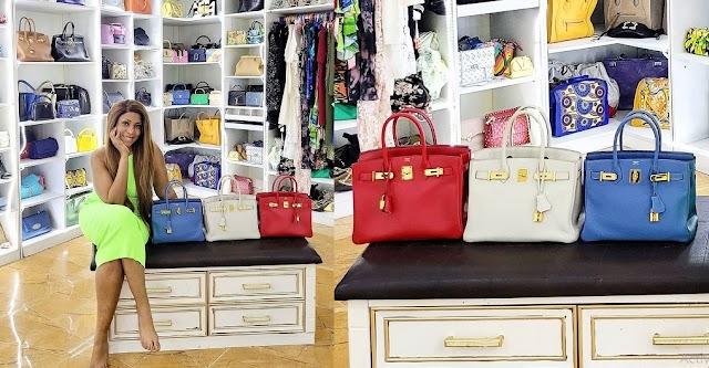 Linda Ikeji splashes over 30 million naira on 3 Birkin Hermes bags in one day [Photos]