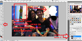 Membuat background yang sama di photoshop