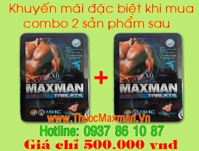 Thuốc cường dương Maxman 3800mg giá khuyến mãi
