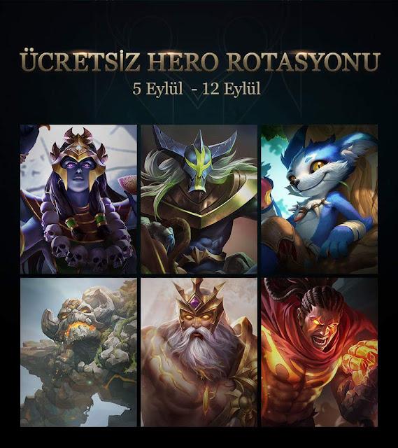 Arena of Valor 5 Eylül 12 Eylül Arasında Ücretsiz Kahraman Rotasyonu