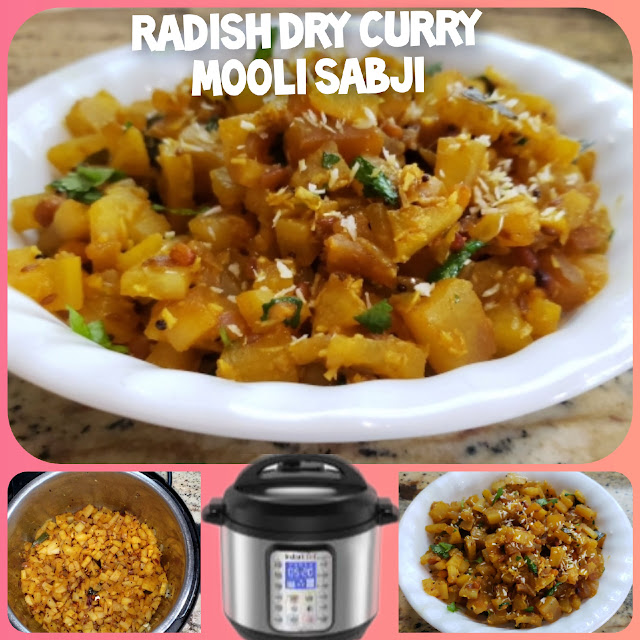 Instant Pot Radish Dry Curry