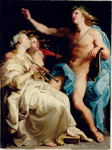 Pompeo Batoni - Apollo and two Muses