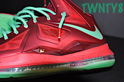 nike lebron 10 gr christmas ruby 3 02 Detailed Look at the Nike LeBron X Christmas / Ruby Edition