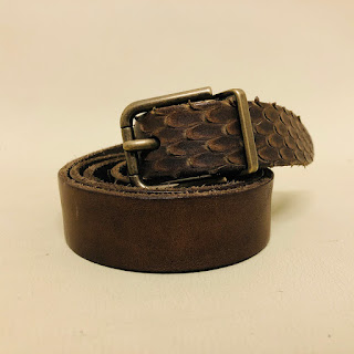 Dolce & Gabbana Leather & Python Belt