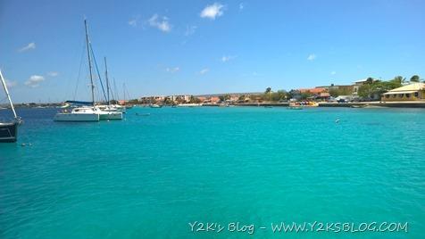 Ormeggio nella baia di Kralendijk - Bonaire