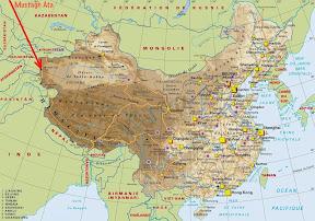 Géographie, le Mustagh Ata c'est où?