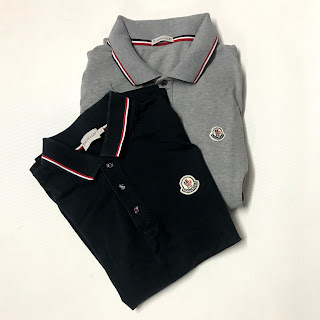 Moncler Navy Blue & Gray Polo Shirt Pair
