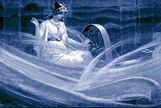 Frigg Spinning The Clouds, Asatru Gods And Heroes