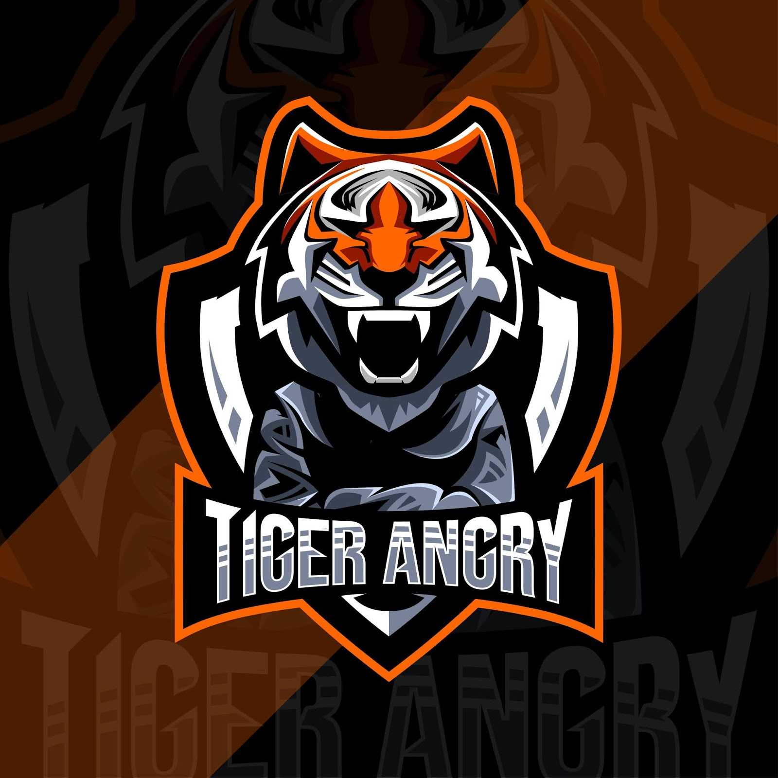 Cute Tiger Angry Mascot Logo Esport Free Download Vector CDR, AI, EPS and PNG Formats