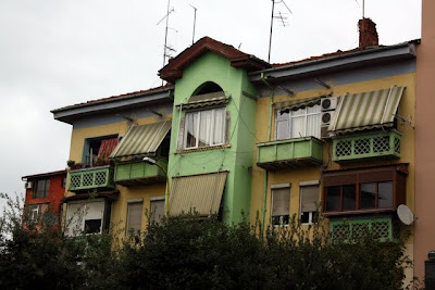 Colorful building in Tirana Albania