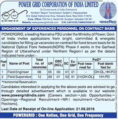 Power Grid Advertisement 2018 www.indgovtjobs.in