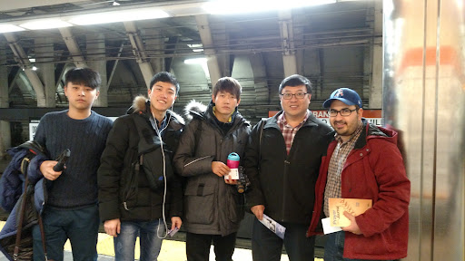 I met Soon, (on my right). He's a Missionary from Tennessee, and he's leading a Mission Trip of Korean Students in Boston who are training to be Evangelists. They listened to me open air preach in the subway and loved it. Soon said he's going to get me in touch with a local Korean Church so I'll have a place to refer Koreans who I meet during street ministry. What an encouragement for all of us! Praise God!