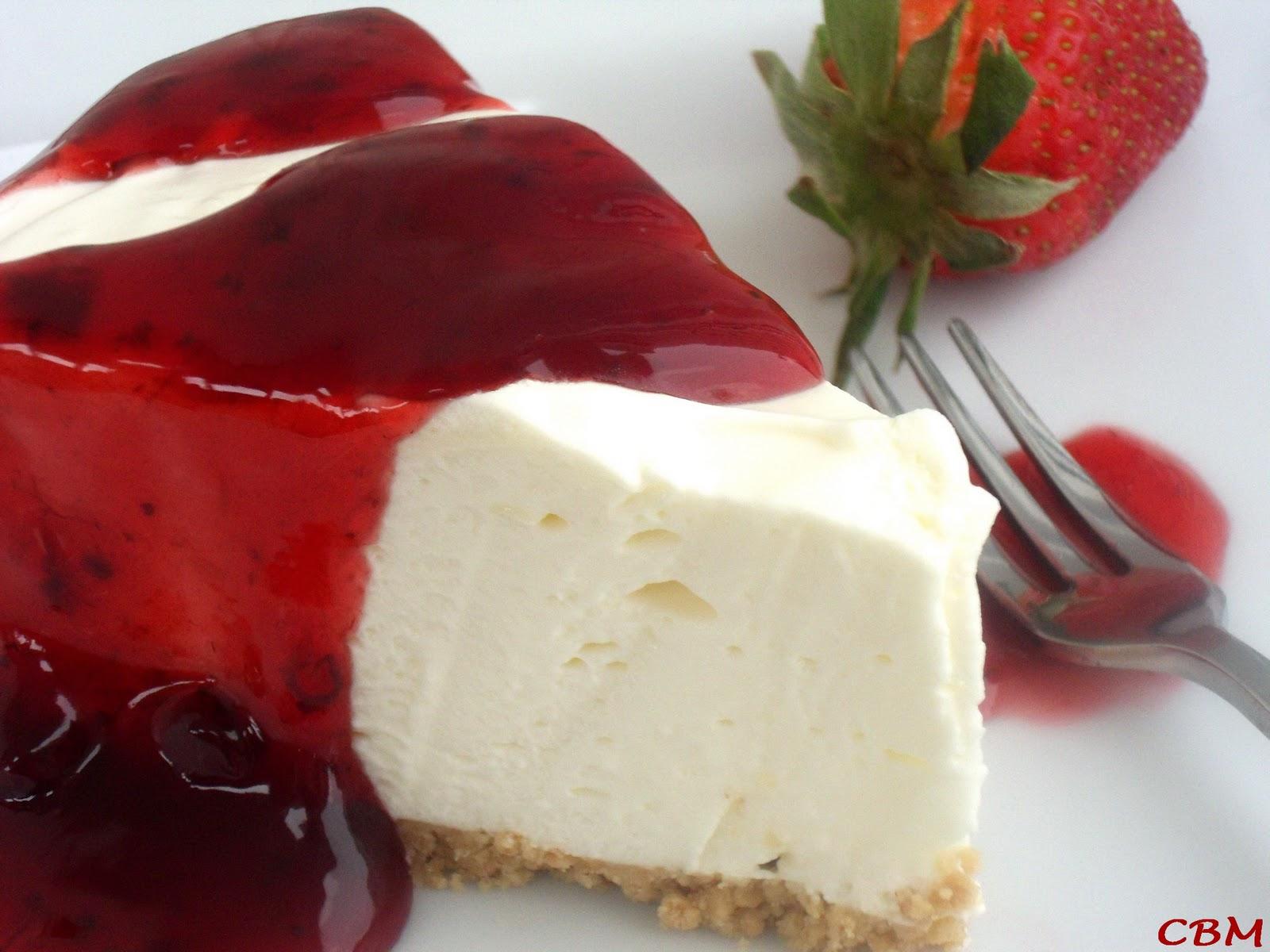 Recette de gateau au fromage aux fraises