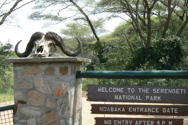 Serengeti National Park - entrance