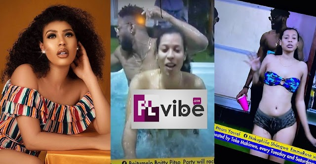 #BBNaija2021: Nini Mistakenly Exp0ses Her B00bs On Live TV during Jacuzzi Party [Video]