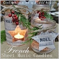 CONFESSIONS OF A PLATE ADDICT French Sheet Music Christmas Candles 5a