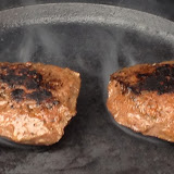 The skillet burgers charred up nicely, too.