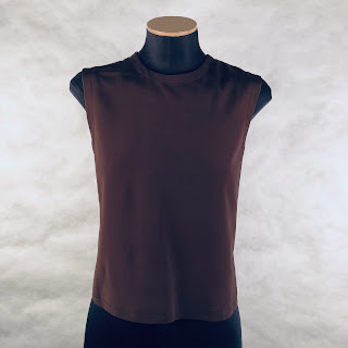 *SALE* Calvin Klein Collection Brown Cropped Suiting Shell