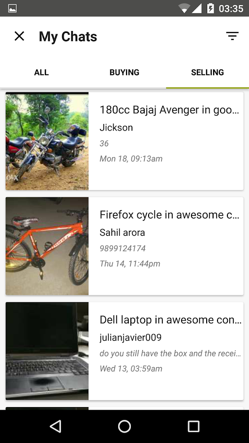 how to sell an item on olx