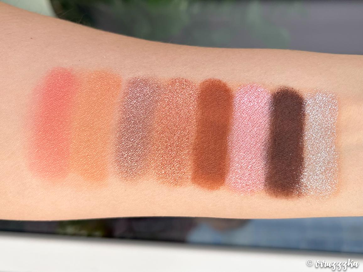 SERAPHINE BOTANICALS Sakura + Sage Vegan Eyeshadow & Blush Palette Review Swatches