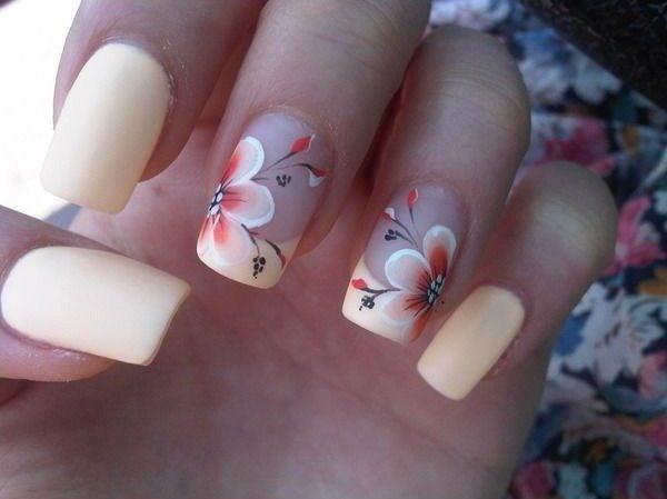 Top 50 Pretty Flower Nail Designs For Beautiful Lady Fashonails