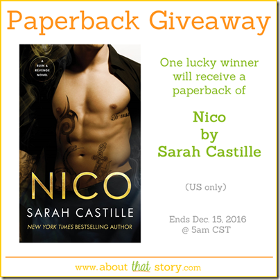 Nico by Sarah Castille Paperback Giveaway