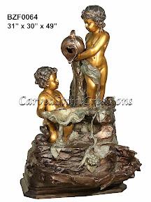 Bronze, Cascade, Cherub, Fountain, Statue