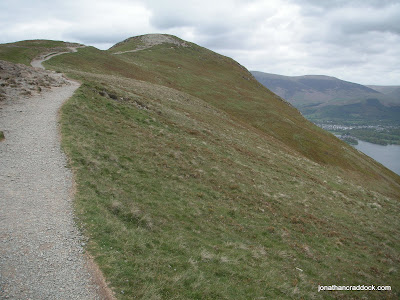 Well trodden and well maintained path to Catbells