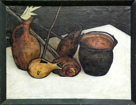 Davit Kakabadze (a.k.a. David Kakabadze; Georgian, 1889 – 1952) - Imeretian Still Life, 1919
