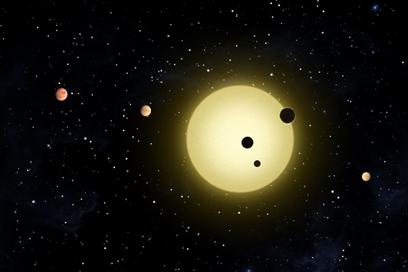 ilustração do exoplaneta Kepler-11